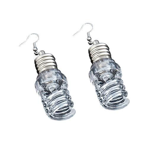 GOMYIE Fun flashing LED bulb Dangle Earring for Women girls Christmas Jewelry,U type