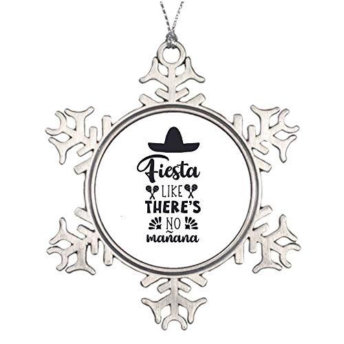 Christmas Ornaments Holiday Tree Ornament Fiesta Like Theres No Maana Snowflake Ornament Crafts Christmas Decoration