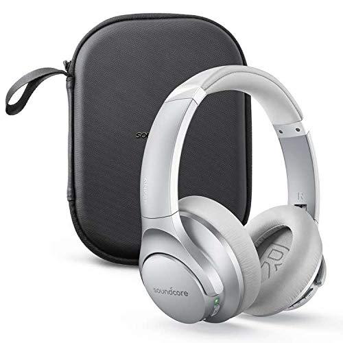 Anker Soundcore Life Q20(Bluetooth5.0 オーバーイヤー型ヘッドホン)ハードトラベルケース付属【アクティブノイズキャンセリング/ハイレゾ対応(AUX接続時) / 最大40時間音楽再生 / マイク内蔵】シルバー