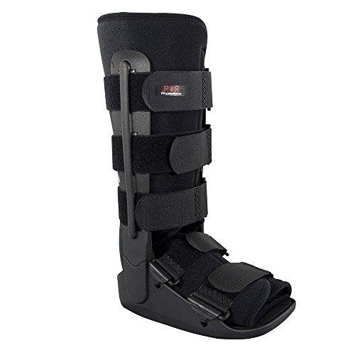 Physioroom Fuß/Knöchelschiene - Leichte Unterstützung und Schutz Bei Fuß- und Knöchelverletzungen - Ideal für Frakturen, Nach Bändern- und Sehnen Op, Verstauchungen und Achillessehnenreparaturen