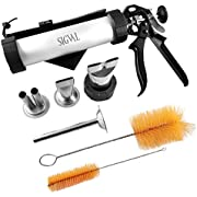 SIGVAL Jerky Gun, 1 Pound Capacity Jerky Maker, Aluminum Barrel with Stainless Steel Nozzles & Bag
