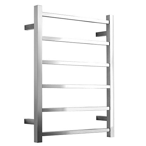 SHARNDY Towel Warmers heated towel rail Square Bars ETW13 Towel Racks for Bathroom (Polish Chrome)