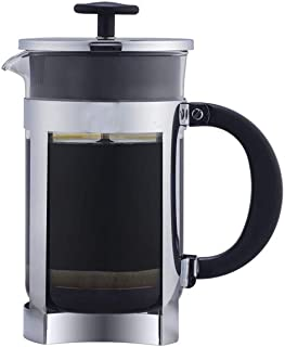 Début - 304 Stainless Steel French Press Coffee & Tea Maker, perculator coffee pot, Heat Resistant Borosilicate Glass, Durable Easy Clean, 33 oz, 8 Cups (1000ml), Silver