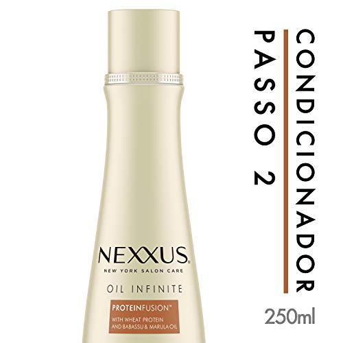 Nexxus Oil Infinite Hydrating and Moisturizing Conditioner for Men and Women, Professional Deep Cleansing for Frizzy Hair, 1er Pack (1 x 250 ml)