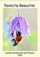 Tierische Besucher (Premium, hochwertiger DIN A2 Wandkalender 2022, Kunstdruck in Hochglanz): Ineskten als Pflanzenbesucher (Monatskalender, 14 Seiten )