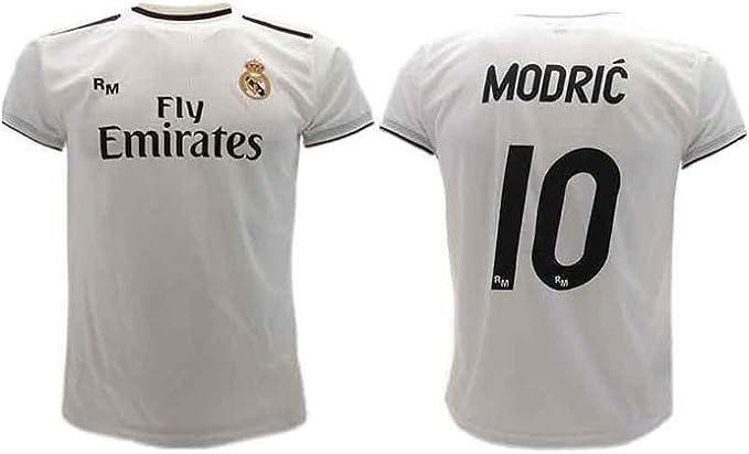 Maglia Ufficiale Real Madrid Modric Bianco Home 2018 2019 in Blister Regalo