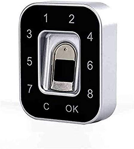SHKUU Cerradura Puerta Inteligente con Huella Dactilar, Cerradura con contraseña Huella Dactilar cajón, gabinete Archivo doméstico/Zapatero Cerradura Huella Dactilar semiconductora