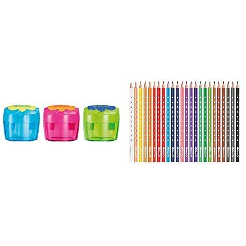 Pelikan 10921112 - Doble sacapuntas + Lápices de colores para niños