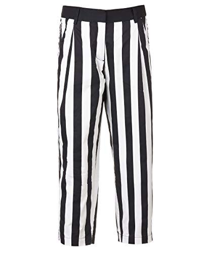 GULLIVER - Pantalones para niña (corte recto, 8 a 13 años, 134-164 cm), color blanco y negro