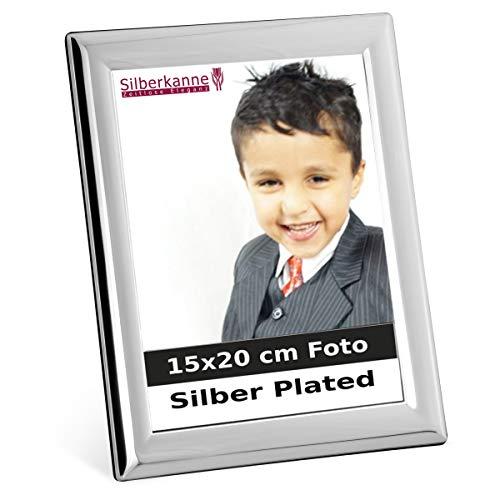 Zilverkleurige fotolijsten Parijs voor 15x20 cm foto's zilver geplateerd verzilverd in premium afwerking