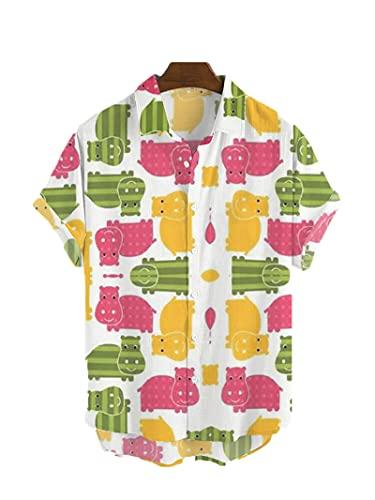 SSBZYES Herrenhemden Sommer Kurzarmhemden Herren Übergroße Hemden Herren T-Shirts Bedruckte Hemden Strand Freizeithemden Herrenoberteile