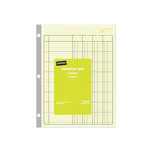 A4 Accounts Pad 8-Ruled Column A4 Analysis Pad Free 2nd Class POStage
