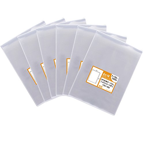 【国産】テープなし【ぴったりサイズ】ポストカード用 透明OPP袋(透明封筒)【600枚】30ミクロン厚(標準)110x160mm