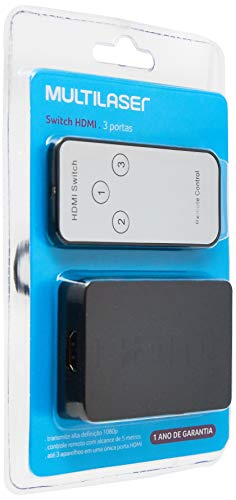 Switch Hdmi 3 Portas 3 Em 1 Preto 18M Multilaser - WI290