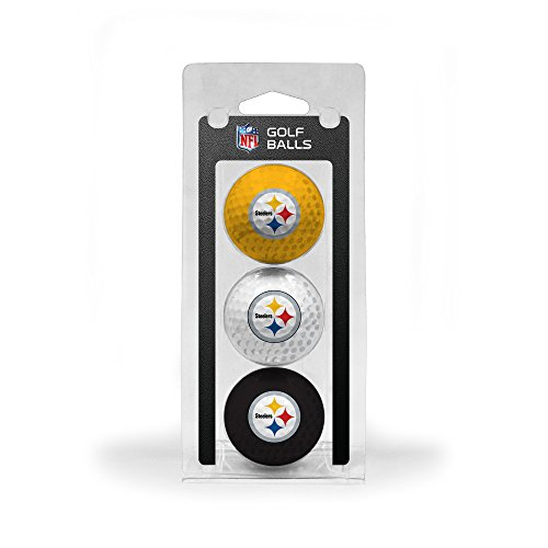 Team Golf NFL Pittsburgh Steelers Regulation Size Golf Balls, 3 Pack, Full Color Durable Team Imprint -  637556324054