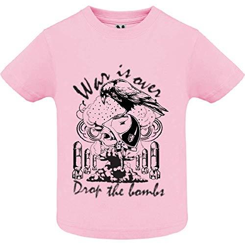 LookMyKase T-Shirt - War is Over - Bébé Fille - Rose - 2ans