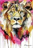 Aquarell Löwe Ölgemälde auf Leinwand Wandkunst Poster und Drucke Bilder abstrakte Cartoon Tiere...