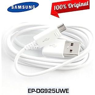Genuine White EPD-G925UWE Samsung Galaxy USB Data Cable For Samsung Galaxy Samsung Galaxy S2 S3 S4 S6 S6 Edge S7, A5 (2016), J5 J7 & Other Micro Samsung Ports (No Retail Packaging - Bulk Packaged):Amedama