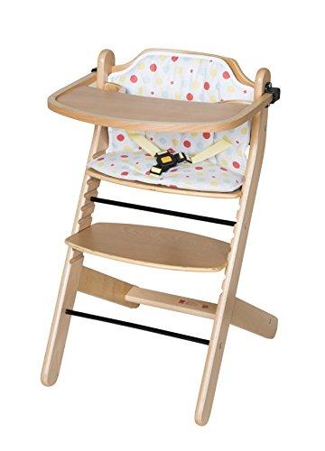 Schardt 01 133 00 01 1/746 Best Chaise haute en hêtre massif laqué naturel avec coussin d'assise