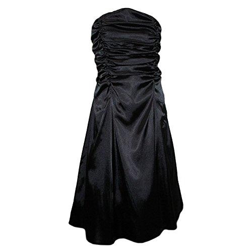 JuJu & Christine - Abendkleid Mädchen Festkleid, schwarz, Größe 38