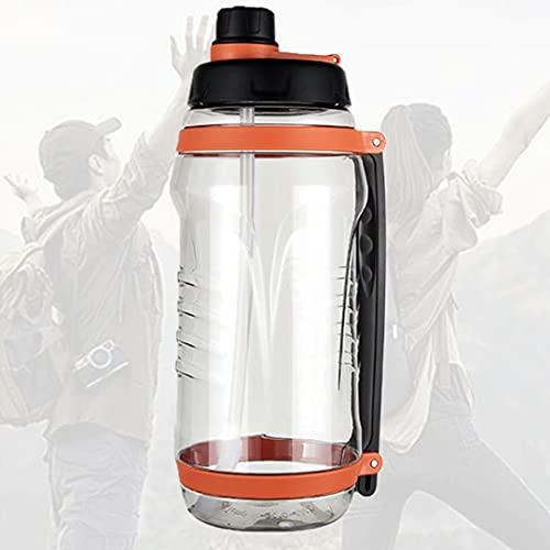 HGTRH Botella Agua Fria Termo, Water Bottle Gym con Pajita Sin Bpa Prueba De Fugas Reutilizable Apertura con Un Solo Botón para Deportes Bicicleta Gimnasio Universidad Exterior