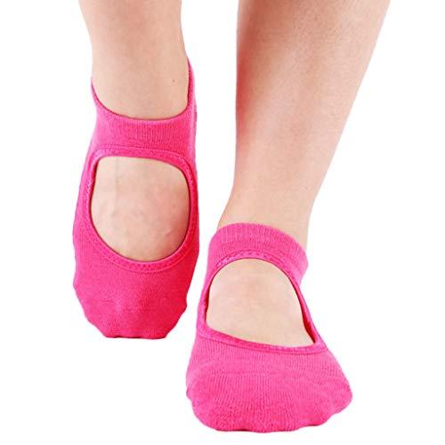 ZZBO Yoga Socken Sportsocken Weiche Pilates Socken Rutschfeste Durch Silikonsohle Ballett Socken mit Komfortbund Fußboden Socken Schweißabsorbierend Geeignet für Frauen Tanz