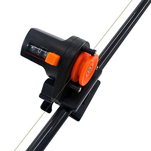 Iycorish - Contador de línea de pesca de profundidad, medidor de longitud, medidor de longitud y medidor de longitud