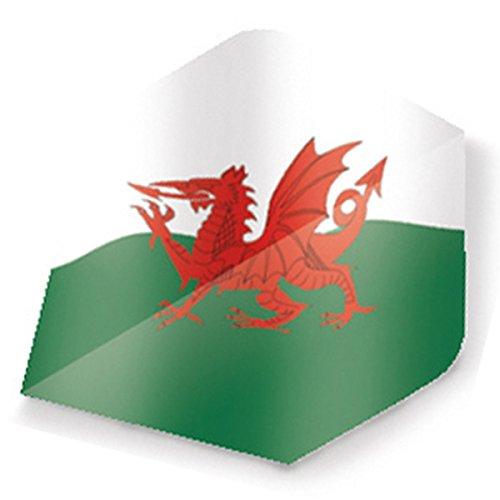 Unicorn Maestro 100 Dart Flights Plus Motiv Flagge Wales