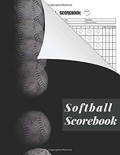 Softball Scorebook: baseball scorekeeper book | Softball Score Record Book | Gift for Coach & Baseball Fans | wall score -...