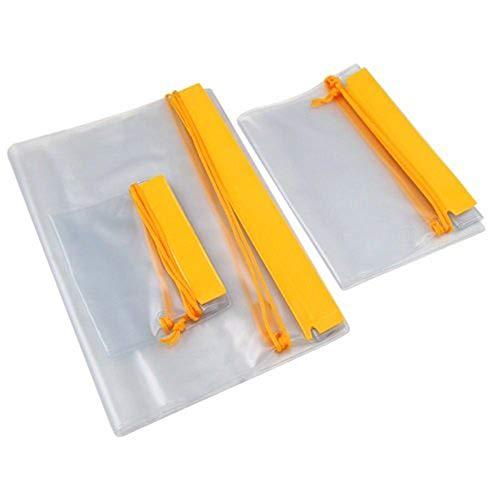 TRIXES 3 wasserdichte transparente Sicherheitsbeutel für Kamera Handy Smartphone oder alles was sicher trocken bleiben soll ideal für Tasche und Rucksack