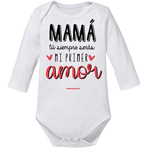 "Body Bebé Día De la Madre""Mamá Tu Siempre Serás Mi Primer Amor"" (6 MESES, MANGA CORTA)"