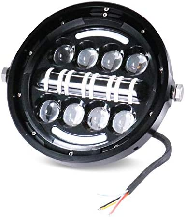 Motorcycle LED Super sale 7''Headlamp High Low OFFicial store DRL l Headligh Running Beam