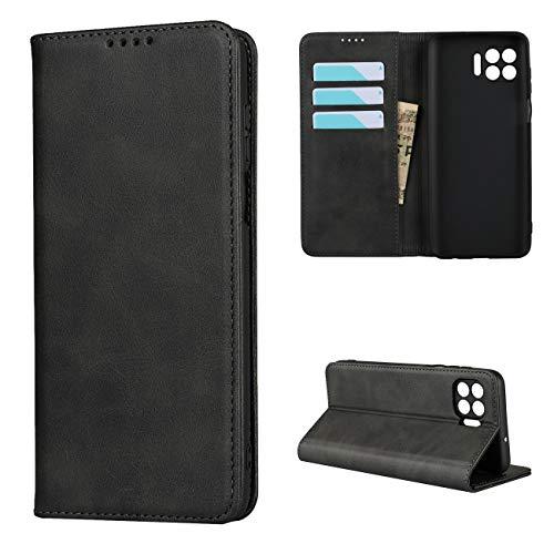 Copmob Hülle Mototola Moto G 5G Plus,Premium Magnetisch Flip Leder Brieftasche Handyhülle,[3 Kartensteckplatz][Ständerfunktion][TPU-Stoßdämpfung],Schutzhülle für Moto G 5G Plus - Schwarz