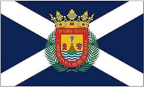 U24Drapeau du Tenerife haute qualité pour bateau drapeau 120x 180cm