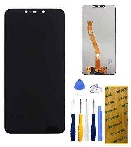 Xlhama Écran Tactile LCD de Rechange Compatible pour Huawei Mate 20 Lite Noir avec Kit Outils Complet de Réparation 3M Adhésif Feuille en Verre Trempé