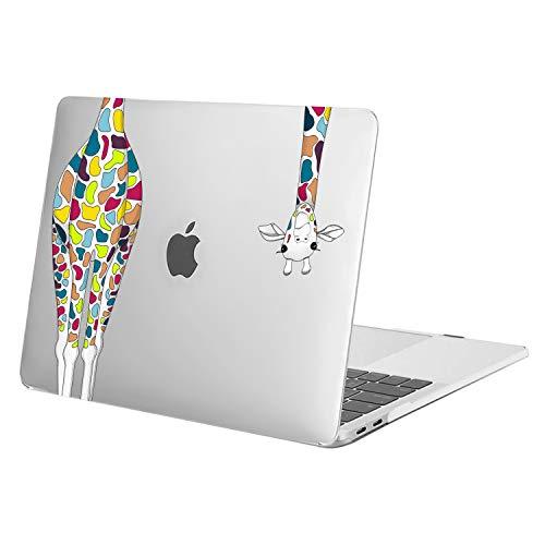 MOSISO Funda Dura Compatible con 2020 2019 2018 2017 2016 MacBook Pro 13 Pulgadas A2338 M1 A2289 A2251 A2159 A1989 A1706 A1708, Carcasa Rígida de Plástico de Jirafa, Transparente
