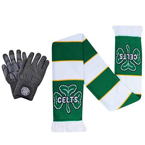 Super Hoops Officiële Keltische FC Winter Handschoenen & CELTS Voetbal Bar Sjaal Gift Set