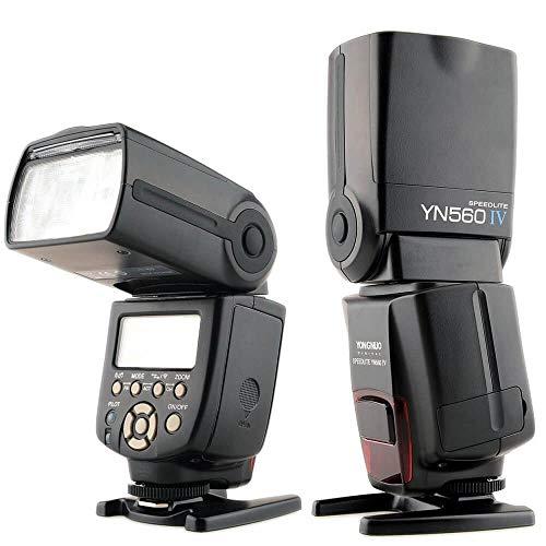 Yongnuo YN560-IV  - Flash con zapata universal (5600° K, IGBT, ISO 100), color negro
