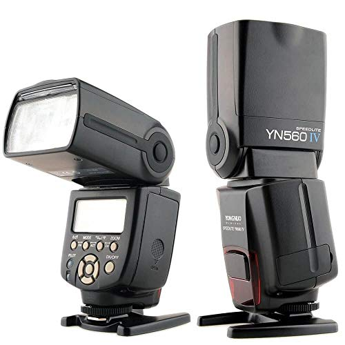 Yongnuo YN560-IV  - Flash con zapata universal (5600° K, IGBT, ISO 100), color negro