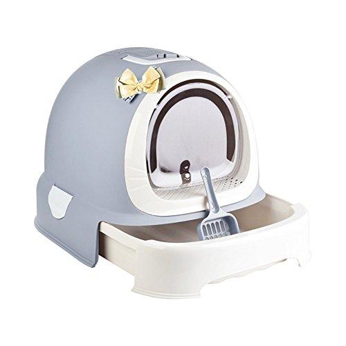 DishyKooker Cat Toilet Box Völlig geschlossene Desodorierung im Schubladenstil Spritzwassergeschütztes Wurfbecken Haustierbedarf blau