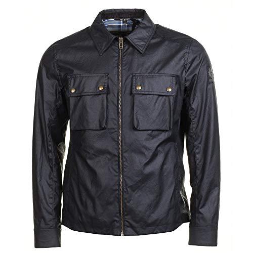 Belstaff Herren gewachste Baumwolle dunstall Jacke XL Schwarz