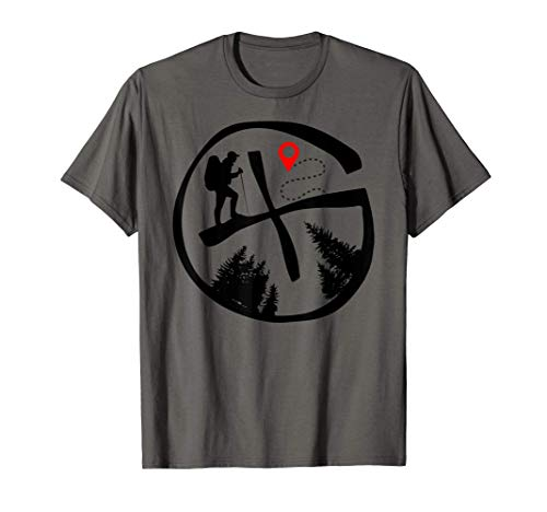 Geocaching Geocache Hiking Outdoors Tee Camiseta