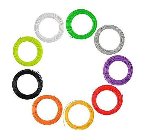 JIALUN ZFX-DAYIN, 1pack 1.75mm 3D Pen Reills PCL/ABS/PLA Filament 5M / 10M 100% No-Blase-Material Kinder Scribble Glühfaden (Color : ABS 10M Random Color)