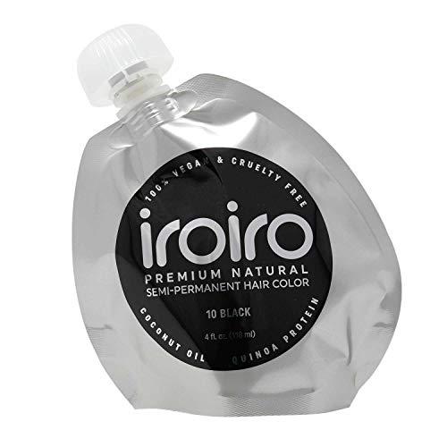 Iroiro Premium Natürliche Haartönung Farbe: 10Iro-Schwarz (8oz/ca. 235ml)