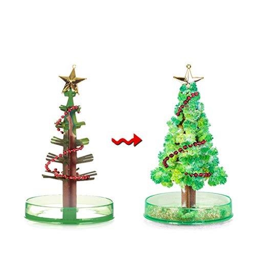 FeiliandaJJ 2Pcs Magisch Wachsender Weihnachtsbaum DIY Magic Growing Paper Tree Weihnachten Deko Kinder Neuheit Spielzeug Weihnachten Geschenk Junge Mädchen (Grün)