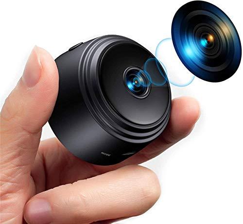 N-B Mini Cámara Espía Oculta WiFi Full HD 1080P Grabadora Audio Video Portátil Inalámbrica Cámara para Niñera Vigilancia Seguridad para el Hogar Pequeña Visión Nocturna para Exteriores