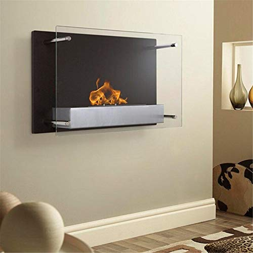 "Regal Flame Indoor Milan Contemporary 24"" Ventless Wall Mounted Bio Ethanol Fireplace"
