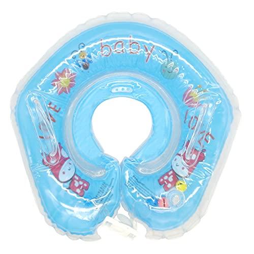 ALHX Baby Schwimmring Baby Schwimmhilfe Mitwachsende Schwimmhilfe Baby Schwimmen Schwimmtrainer Kinder Inflatable Swimming Ring mit Sicherheitsgriffen 1 Monate bis 18 Monate