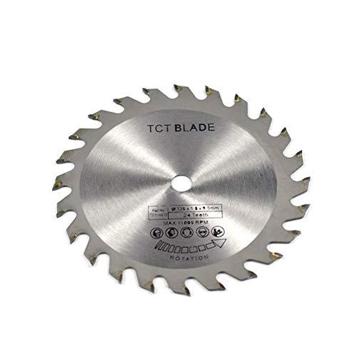 CJIANHUA-HERRAMIENTAS 1pc Diámetro 120 mm 24T TCT Sierra circular Hoja de carburo Hoja de sierra de madera de carpintería para corte de madera Todo nuevo nunca usado