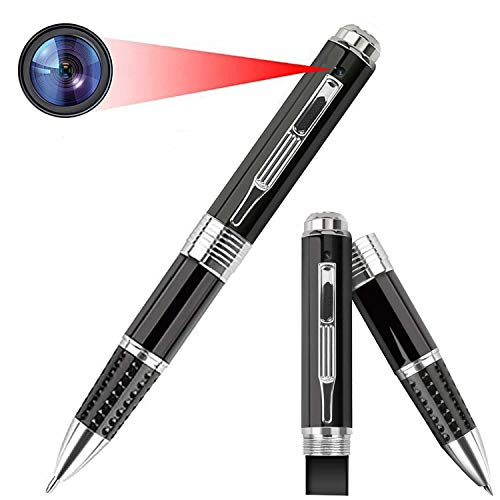 Pen with Camera, Ekeamz Hidden Pen with Camera HD 1080P Portable Digital Video Recorder with Photo Taking Wireless Mini Spy Cam Multifunction Pen Camcorder for Conference and Home - Video Only